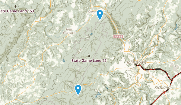 State Game Lands Number 42 Map