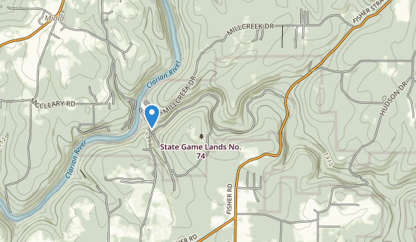State Game Lands Number 74 Map