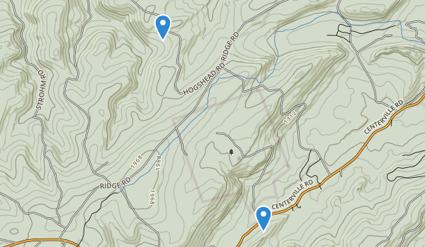 trail locations for Tumbling Run Game Preserve