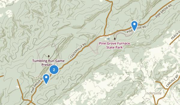 Tumbling Run Game Preserve Map