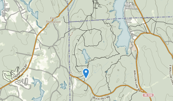 trail locations for Buck Hill State Management Area