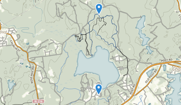 trail locations for Burlingame Management Area