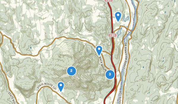 trail locations for Ascutney State Park