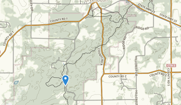 trail locations for Kettle Moraine Red Oaks State Natural Area