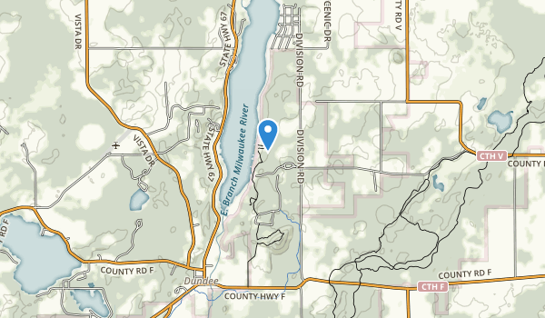 trail locations for Long Lake Recreation Area