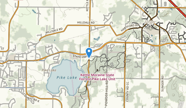 Pike Lake State Park Map