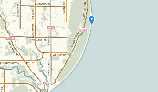 Point Beach Ridges State Natural Area Map