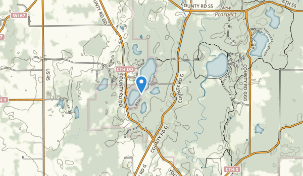 trail locations for Spring Lake State Natural Area