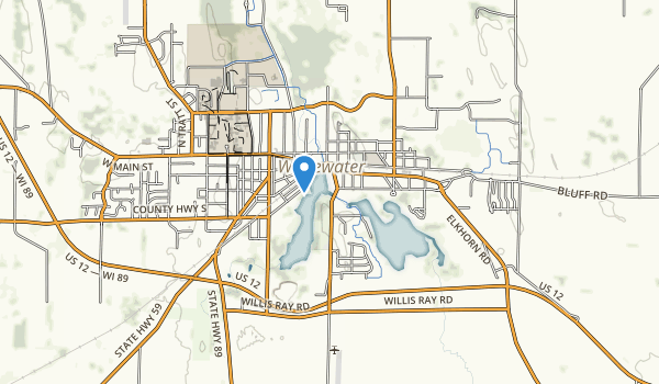 trail locations for Trippe Lake Park
