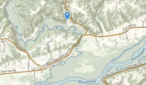 trail locations for Wauzeka Bottoms State Natural Area