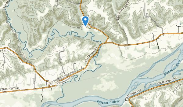 Wauzeka Bottoms State Natural Area Map