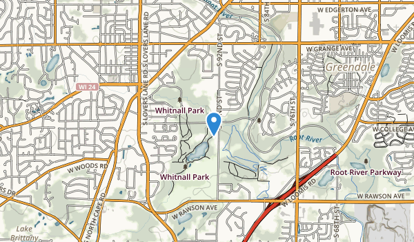 trail locations for Whitnall Park