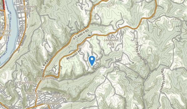 trail locations for Oglebay Park