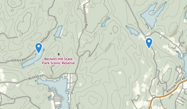 trail locations for Beckett Hill State Park Reserve