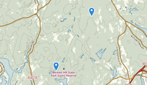 Beckett Hill State Park Reserve Map