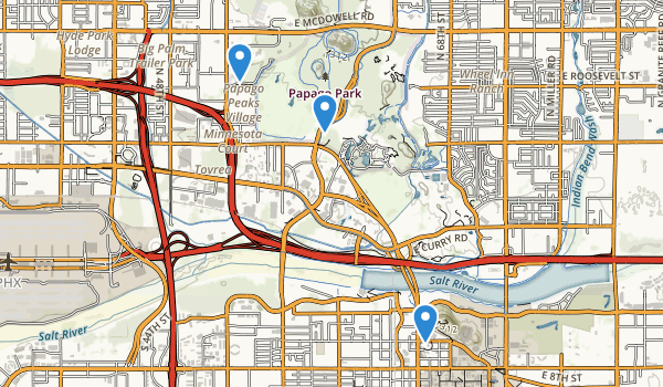 trail locations for Papago Park