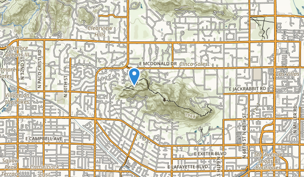 trail locations for Camelback Mountain Park