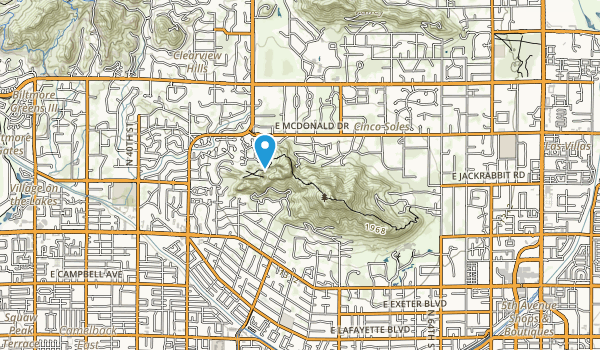 Camelback Mountain Park Map