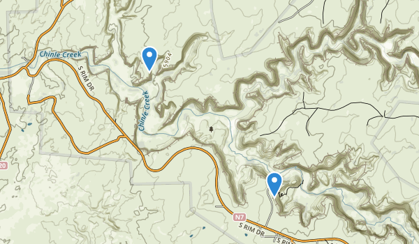 trail locations for Canyon de Chelly National Monument