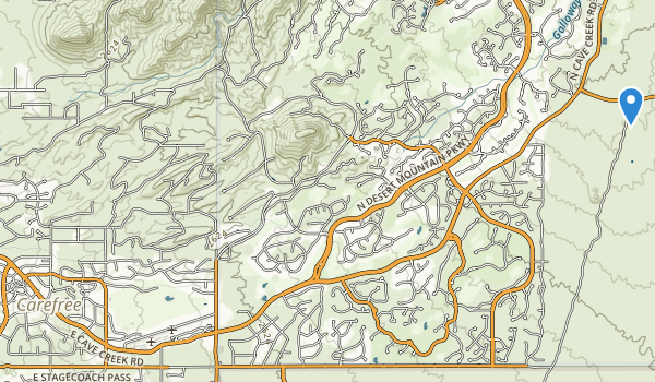 trail locations for Carefree Sun Dial