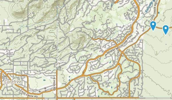 Carefree Sun Dial Map