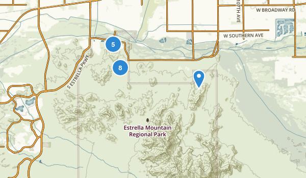 Estrella Mountain Regional Park Map
