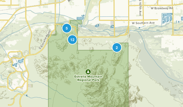 Estrella Mountain Regional Park Map