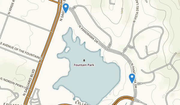 trail locations for Fountain Park
