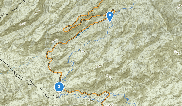 trail locations for General Hitchcock Campground