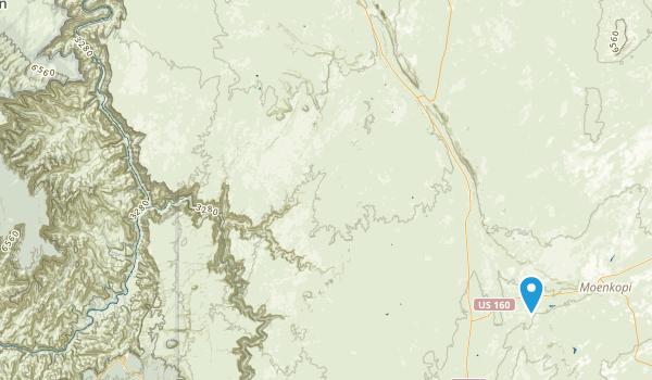 Grand Canyon Navajo Tribal Park Map