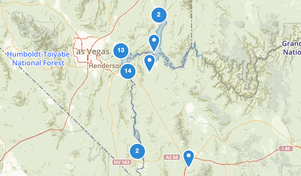 trail locations for Lake Mead National Recreation Area