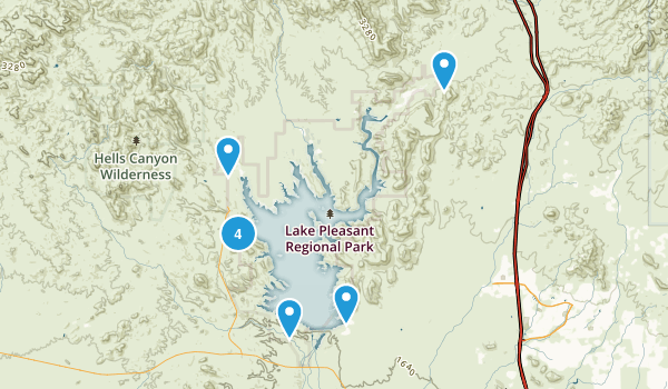 Lake Pleasant Regional Park Map