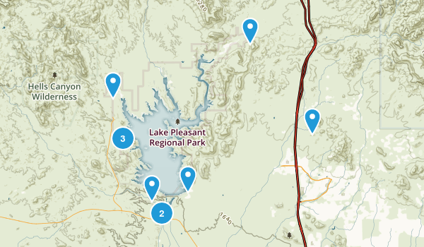 Lake Pleasant Regional Park Map