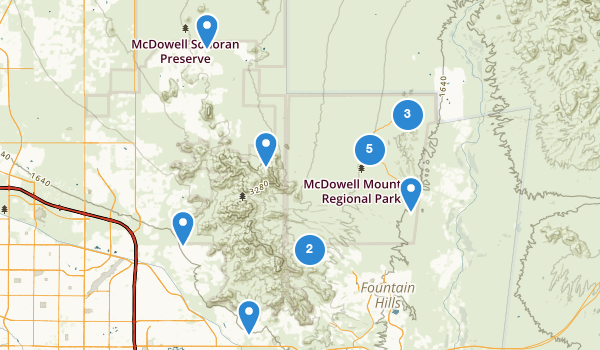 trail locations for McDowell Mountain Regional Park