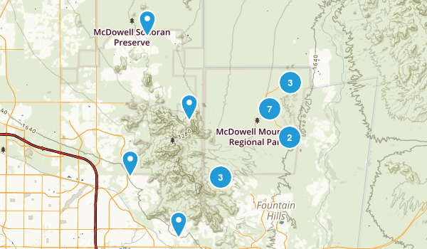 McDowell Mountain Regional Park Map