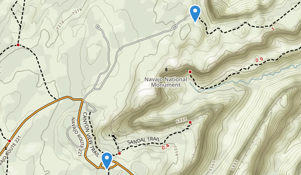 Navajo National Monument Map