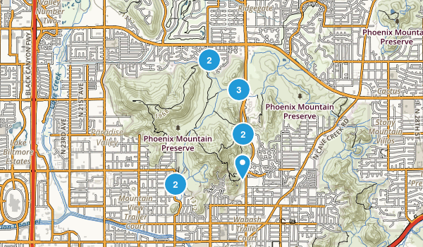 North Mountain Park Map