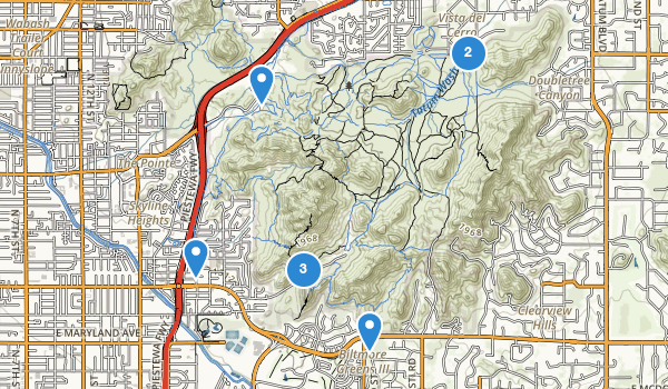 trail locations for Phoenix Mountains Park
