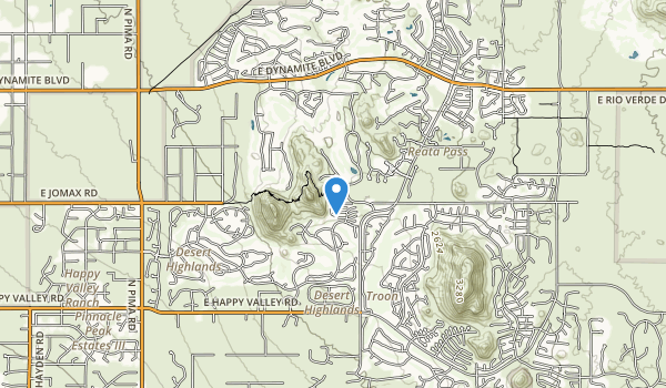 trail locations for Pinnacle Peak Park