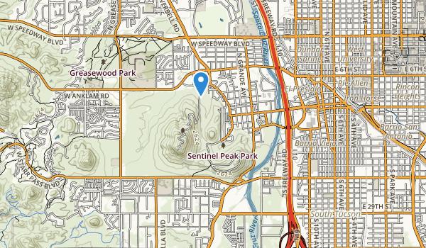 trail locations for Sentinel Peak Park