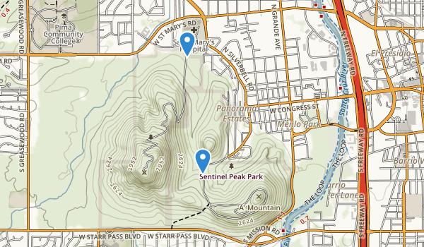 Sentinel Peak Park Map