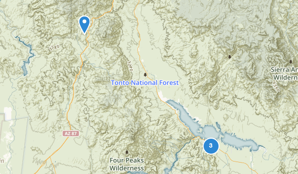 trail locations for Tonto National Monument