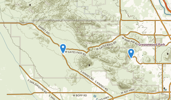 trail locations for Tucson Mountain County Park