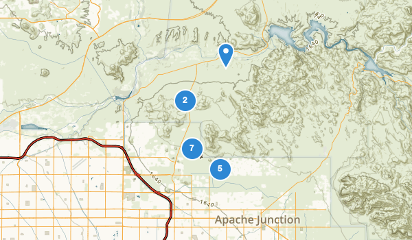 trail locations for Usery Mountain Regional Park