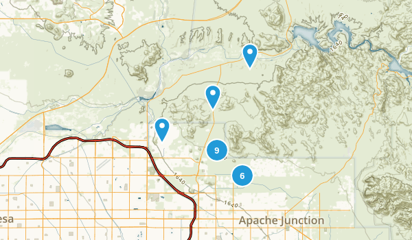 Usery Mountain Regional Park Map