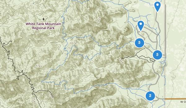 trail locations for Whitetank Mountain Regional Park