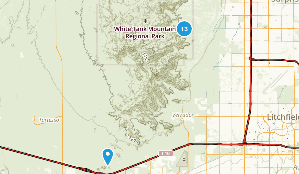 Whitetank Mountain Regional Park Map