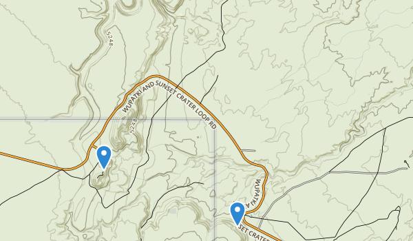 Wupatki National Monument Map