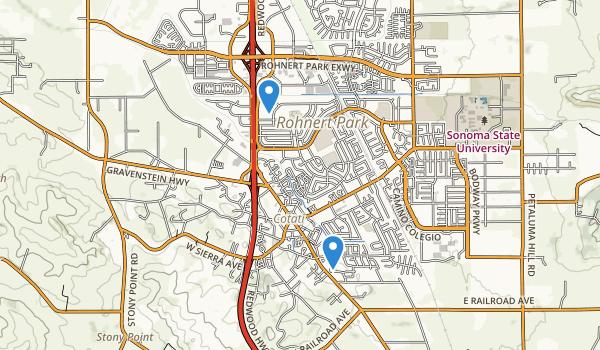 trail locations for Alicia Park