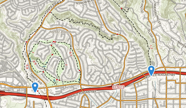 Aliso Canyon Park Map